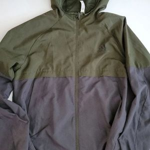 Adidas Green and Grey Rain Jacket size L